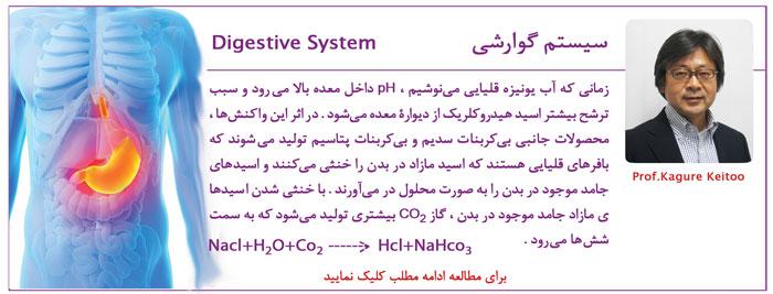 بیماری سیستم گوارشی و آب یونیزه قلیایی