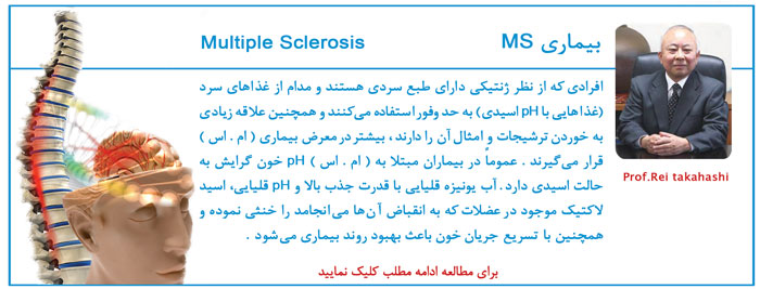 بیماری ms و مجعزه آب یونیزه قلیایی